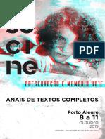 2019 SCANSANI, A. C. O humano e o técnico em um só corpo - diálogos entre Simondon e Béla Tarr. Anais Socine.pdf