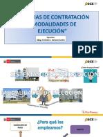 Sistemas de Contratación y Modalidades de Ejecucicón