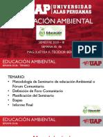 SEMANA 05-06  EDUCACIÓN AMBIENTAL METODOLOGÍA