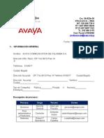 Levantamiento de información General del cliente - Avaya