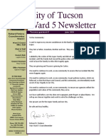 Ward 5 June 2020 Newsletter