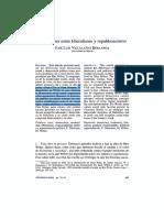 Villacañas, J.L., Max Weber entre liberalismo y republicamnismo