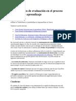 Instrumentos de evaluación en el proceso enseñanza