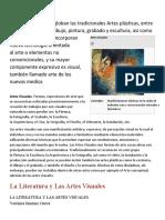 ARTES VISUALES Y LITERATURA