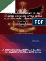 La Contaminación Ambiental y el Agua en Lima Metropolitana