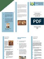 Folleto literatura del renacentismo y medieval