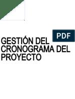 GESTIÓN DEL CRONOGRAMA