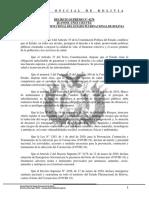 DS 4276 sobre la ampliación de la cuarentena condicionada y dinámica