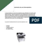 Funcionamiento de una fotocopiadora
