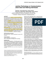 The Impact of Assistive Technology on Communication Quality Between Deaf and Hearing Individuals