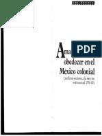 AMAR, HONRAR Y OBEDECER EN EL MÉXICO COLONIAL - Patricia Seed