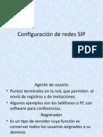 Configuración de redes SIP