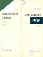 1966 -Andonie- Ed. St. - Istoria Matematicii vol-II