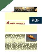 APPATS NATURELS Les Crustacés Font Partie Du Régime Alimentaire de Nombreuses Espèces de Poissons.docx