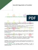 Tehnologia prelucrării legumelor și fructelor - Curs 6 (1)