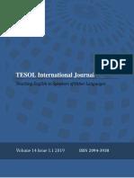Tesol Journal 2019