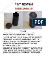 Coating Inspection Density Cup