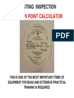 Coating Inspection Dew Point Calculator