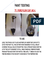 Coating Inspection Ford Flow Cup
