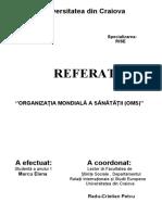 ORGANIZAȚIA MONDIALĂ A SĂNĂTĂȚII - final