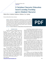 Development of Christian Character Education Based Project Based Learning Teaching Materials to Improve Student Character