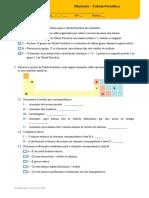 Miniteste - Tabela Periódica