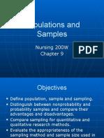 Module 10 Population and Sampling 2016-2