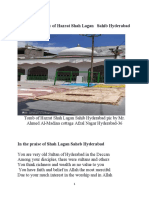 A brief biography of Hazrat Shah Lagan Sahib Hyderabad