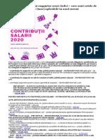 Contribu_ii angajat _i angajator 2020 (info) – care sunt cotele de contribu_ii salariale (taxe) aplicabile în anul curent