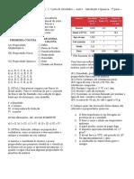 1.2.Lista de atividades  – Aula 1 - Introdução à Química - 1º parte – Propriedades da Matéria..docx