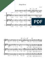 Deep River SATB - Full Score