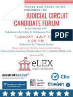 July 7th Second Judicial Circuit Candidate Forum