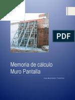 Memoria Descriptiva Muro Pantalla - EP PMALDONADO
