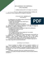 Unidad I. Texto 2. mecanismos de defensa otto fenichel resumen