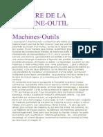 HISTOIRE DE LA MACHINE