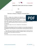 LA DIFFICILE REFORME DE LA FISCALITE LOCALE AU MAROC.pdf