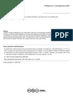 ANALYSE FINANCIÈRE DES COLLECTIVITÉS TERRITORIALES ET INCERTITUDE