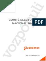 Comité electoral del 10-N en Ciudadanos
