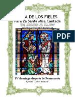 IV Domingo Después de Pentecostes. Guía de los fieles para la santa misa cantada. Kyrial Orbis Factor