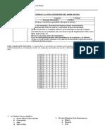 Evaluación Sexto Año (Primera Unidad)