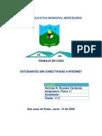 ACTIVIDADES PARA ESTUDIANTES GRADO ONCE DOS QUE CARECEN DE CONECTIVIDAD