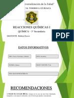 REACCIONES QUÍMICAS I