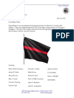 City Councilors Letter On Thin Red Line Flag