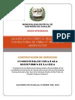 Bases Integradas (Municipalidad Distrital de San Pedro de Chaulan)