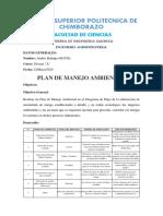 PLAN DE MANEJO AMBIENTAL - MERMELADA DE MANGO - Hidalgo Andrés