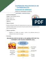 Diagrama de Flujo de la Elaboración de Mermelada de Mango - Hidalgo Andrés