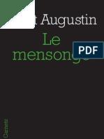 Le Mensonge, Saint Augustin