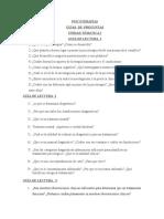 PREGUNTAS PSICOTERAPÍAS Y PSICOFARMA
