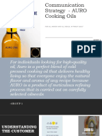 Communication Strategy  - AURO Cooking Oils