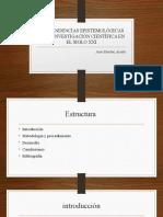 Las Tendencias Epistemológicas de La Investigación Científica En